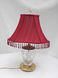 newest crystal beaded table lamp shades with items similar to waterford crystal and brass table lamp