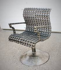 Modern Scrap Metal Chain Chair contemporary-living-room