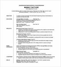 Resume Of Fresher Mechanical Engineer Sample Resume For Mechanical