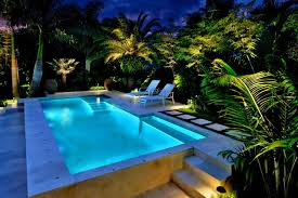 tropical outdoor lighting. ledpoollightbulbpooltropicalwithlandscapelightingoutdoor chaiseloungespalmtreespathpatio tropical outdoor lighting