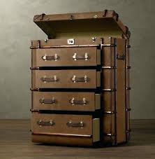 trunk furniture restoration hardware makes a beautiful line of home furniture that resembles old steamer trunks