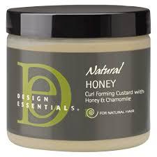 Design Essentials Natural Honey Curlforming Custard Design Essentials Honey Curl Firming Custard 8oz Custard