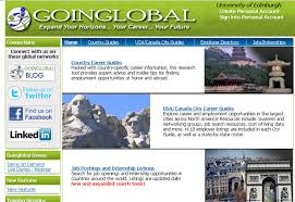 career connect the university of edinburgh careers service one of my colleagues recently gave a short demo on a resource we ve had at the careers service for a while it s called going global and it provides a way