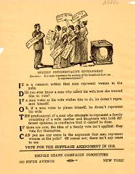 idiotic pro suffrage propaganda the problem isn t representative  w suffrage essay upstate new york and the women s rights movement