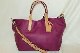 NEW! NWT! COLE HAAN Violet Pebbled Leather VIOLA CROSBY II Tote Bag B44993  $298 | eBay
