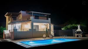 Dorfvillen Luxus Private Zweistöckige Villa Mit Privatem Pool