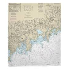 Ct Stamford Norton Ct Nautical Chart Blanket Nautical