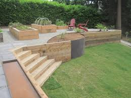 Backyard Retaining Wall Designs Unique How To Build A Raised Patio On Concrete Circular Paver Kit Town
