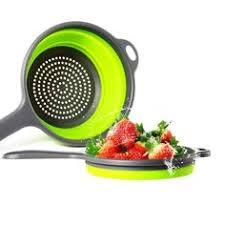 <b>1pc</b> Collapsible <b>Silicone</b> Colander-- <b>Fruit, Vegetable</b> Washing ...