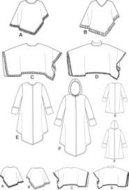 Poncho Sewing Pattern Cool New Look 48 Misses' Ponchos And Coat