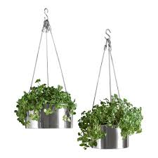 Hanging Planter Bari Stainless Steel Hanging Planters The Green Head