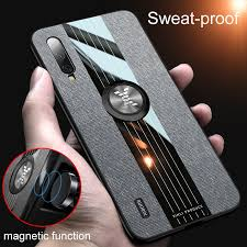For Xiaomi Mi CC9 CC 9 SE 8 <b>Car Magnetic Ring Leather</b> Case for ...