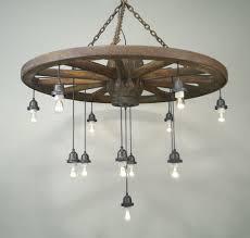 vintage wagon wheel chandelier and light fixture with mason jars portland restaurant 1000x950px