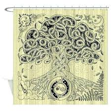 tree of life shower curtain tree of life ink shower curtain on curtains dotz tree of