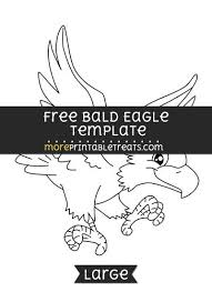 bald eagle template free bald eagle template large shapes and templates printables
