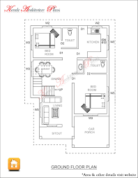 simple 2 bedroom house plans kerala style 17 750 sq ft house plan