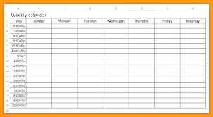 Weekly Calendar With Time Slots Template Excel Calendar Schedule Template Divisionplus Co