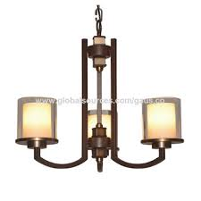 china conventional chandelier lamp antique brass iron pendant light with 5 glass shades