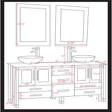 com 71 inch espresso modern bathroom double vanity set lafayette brushed nickel faucets home kitchen