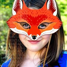 Mask Templates For Adults Inspiration Red Fox Mask Printable Animal Masks Paper Mask Childrens Party Etsy