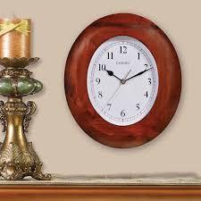 11 inch oval wood wall clock chaney