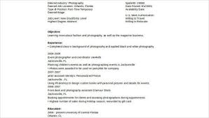 sample photography resumes sample photography resume 8 examples in word pdf