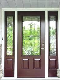 wooden storm door with glass panels