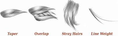 techniques on how to draw hair