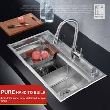 hideep kitchen sink vessel set with faucet double sinks kitchen