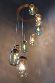 view in gallery cascading glass jar chandelier