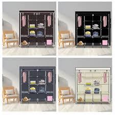 67 wardrobe portable closet storage organizer clothes unit shoe rack shelves