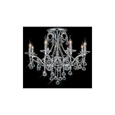 bianco 8 light chrome asfour crystal chandelier for low ceilings
