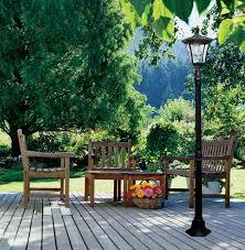 com paradise gl23716bk cast aluminum solar powered led streetlight style outdoor light home improvement