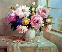 oil painting flowers on canvas best 2018