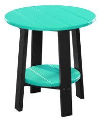 deluxe end table aruba blue
