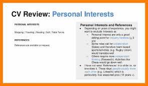 7 Resumes Interests Examples Activo Holidays
