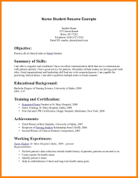 8 Nursing Student Resume Examples Offecial Letter