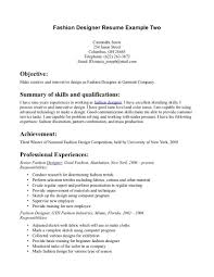 Fashion Designer Resume Examples Examples Of Resumes