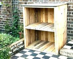 fantastic wooden storage unit shelves with baskets garden units outdoor wood cabinet mag 4 l cabinets
