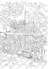 Coloriage Les Bouquinistes Devant Notre Dame De Paris Un Max De