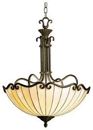 country cottage art nouveau tiffany style bowl chandelier