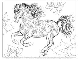 Attractive Horses Coloring Page Charming Design Horse Pages For