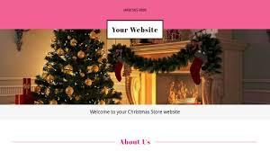 Free Christmas Website Templates Christmas Store Website Templates Godaddy
