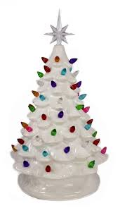 Small Christmas Tree With Led Lights Colored And White Miniature Christmas Tree With Lights