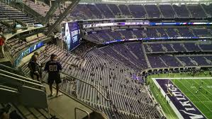 Us Bank Seating Chart Vikings U S Bank Stadium 100 Level Endzone Football Seating
