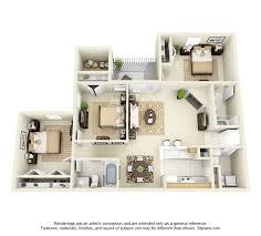 apartment 3 bedroom. glade creek 3 bedroom apartment 3d floor plan - 1376 sq. ft. r