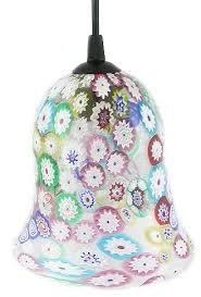 bell shaped millefiori pendant lamp