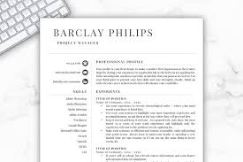 Microsoft Template Resume Mesmerizing Resume TemplateCV Barclay Resume Templates Creative Market