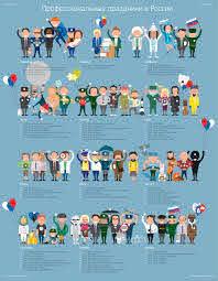 Профессиональные праздники – Инфографика.ру   Инфографика, География для  детей, Праздник