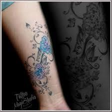 цветы орнамент 15 года зажившая татуировка мои тату работы
